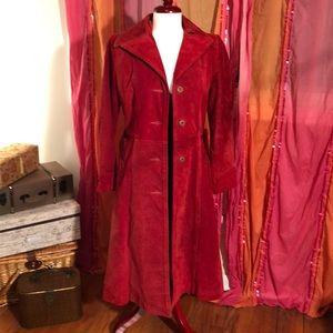 Vintage Red Suede Jacket ❤️